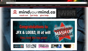screenshot of the MYM website after the competition