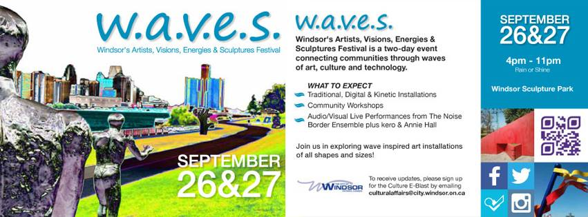 Flyer for the WAVES Festival