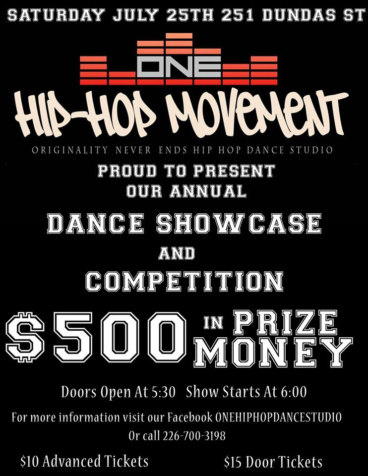 ONE dance showcase July 2015
