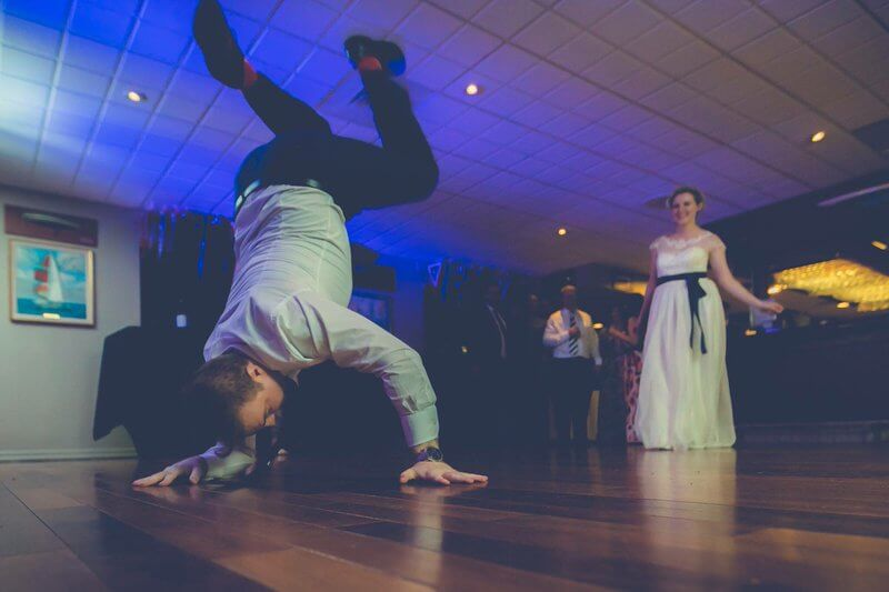 breakdancing at wedding